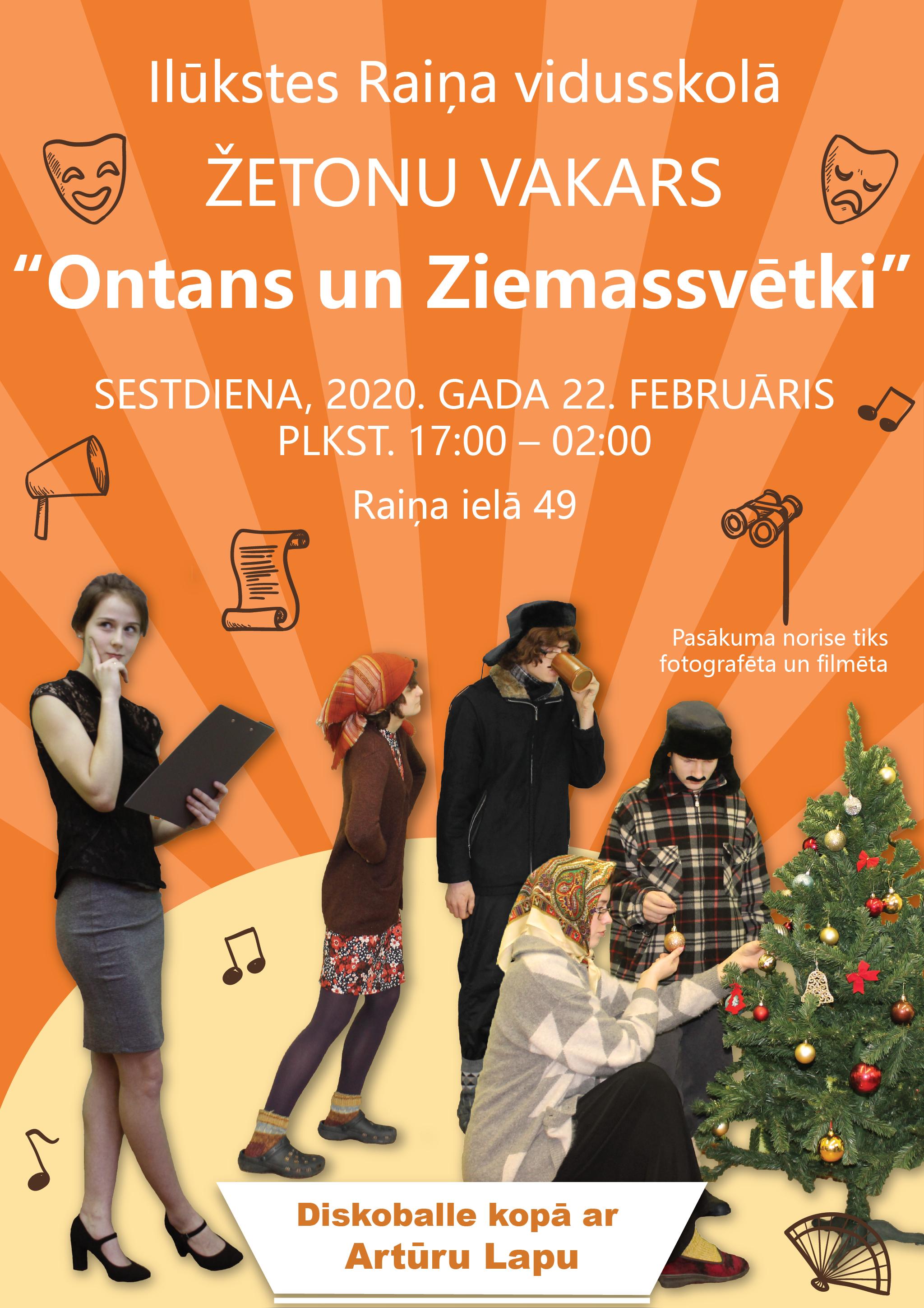 """IRV Žetonu vakars 2020 """"Ontans un Ziemassvētki"""" tuvojas!"""