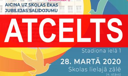 """Pasākums """"ILŪKSTES RAIŅA VIDUSSKOLAI (STADIONA IELĀ 1) – 60!"""" atcelts!"""